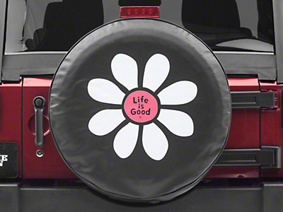 Life is Good Daisy Lig Spare Tire Cover (87-18 Jeep Wrangler YJ, TJ, JK & JL)