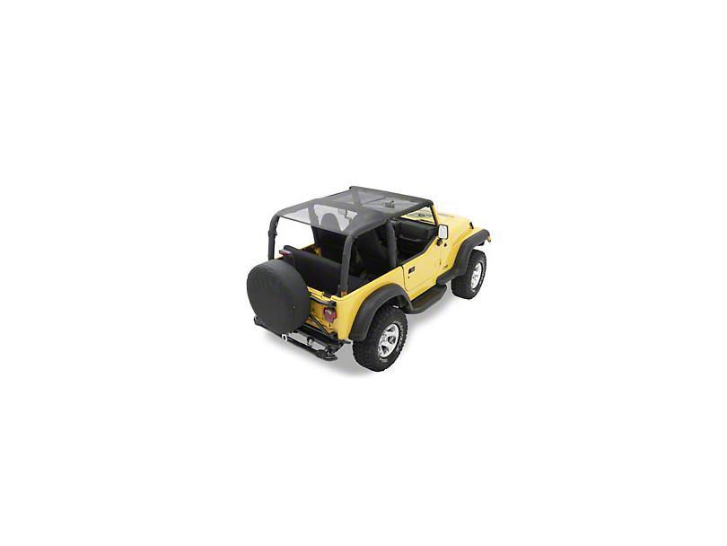 Bestop Safari-Style Header Bikini Top - Mesh (97-02 Jeep Wrangler TJ)