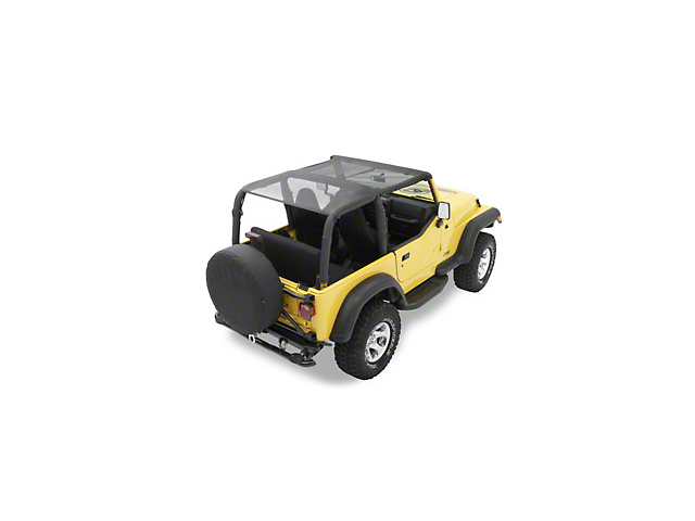 Bestop Safari-Style Header Bikini Top - Mesh (03-06 Jeep Wrangler TJ, Excluding Unlimited)