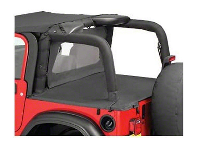 Bestop Duster Deck Cover - Black Diamond (03-06 Jeep Wrangler TJ w/ Soft Top, Excluding Unlimited)