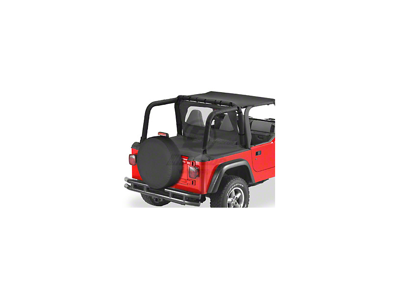 Bestop Duster Deck Cover - Black Denim (97-02 Jeep Wrangler TJ w/ Soft Top)