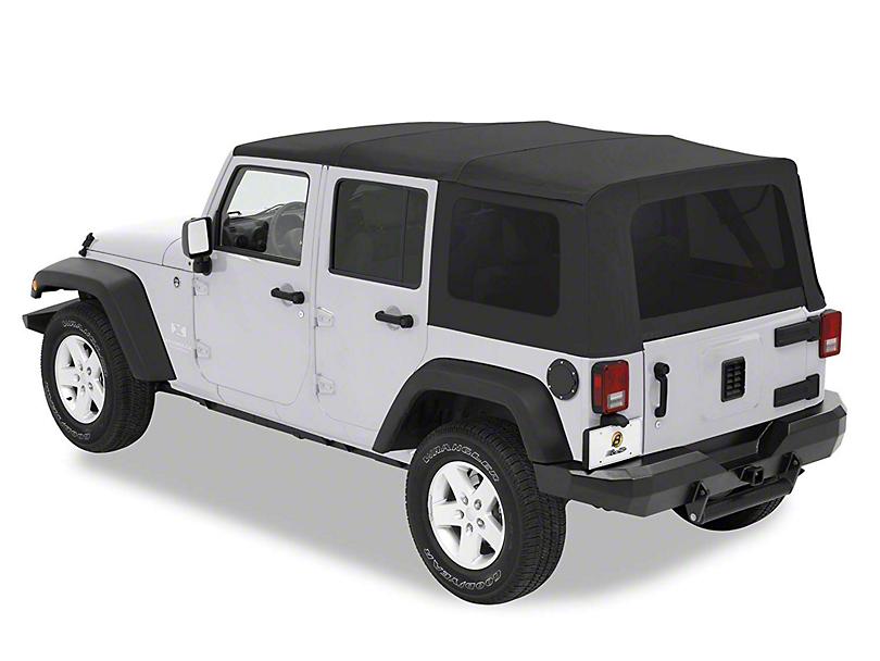 Bestop Supertop Classic Soft Top - Black Diamond (07-18 Jeep Wrangler JK 4 Door)