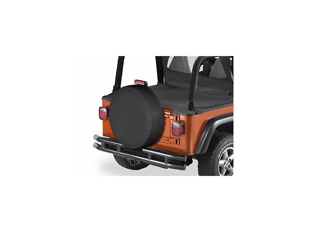 Bestop 28x8 in. Spare Tire Cover - Black Crush (87-20 Jeep Wrangler YJ, TJ, JK & JL)