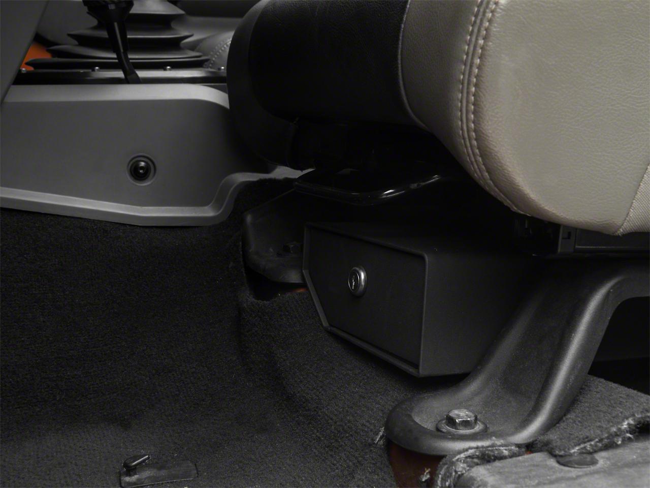 Bestop Underseat Storage Lock Box - Driver Side (07-10 Jeep Wrangler JK 2 Door; 07-18 Jeep Wrangler JK 4 Door)