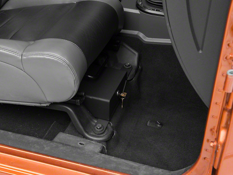 Bestop Underseat Storage Lock Box - Passenger Side (07-10 Jeep Wrangler JK 2 Door; 07-18 Jeep Wrangler JK 4 Door)