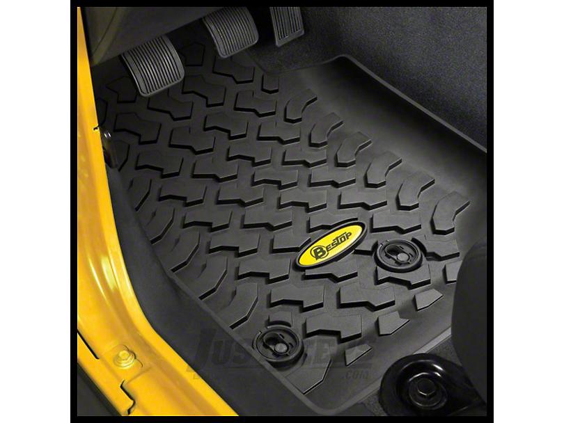 Bestop Front Floor Mats - Black (07-18 Jeep Wrangler JK)
