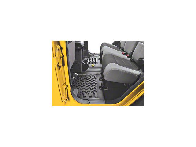 Bestop Rear Floor Mat - Black (07-18 Jeep Wrangler JK 4 Door)