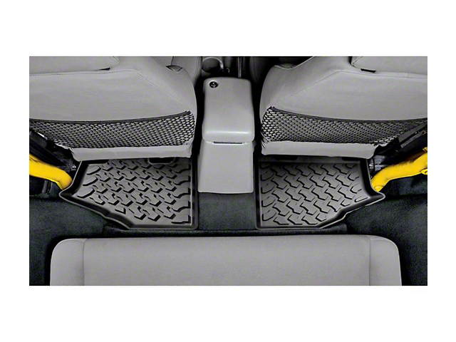 Bestop Rear Floor Mats - Black (97-06 Jeep Wrangler TJ)