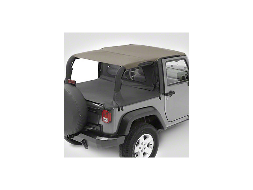 Bestop Safari-Style Header Bikini Top - Mesh (07-09 Jeep Wrangler JK 2 Door)