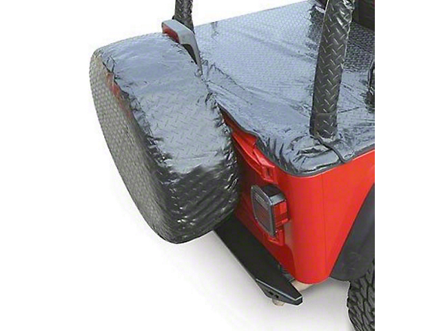 Vertically Driven Spare Tire Cover - Black (87-19 Jeep Wrangler YJ, TJ, JK & JL)
