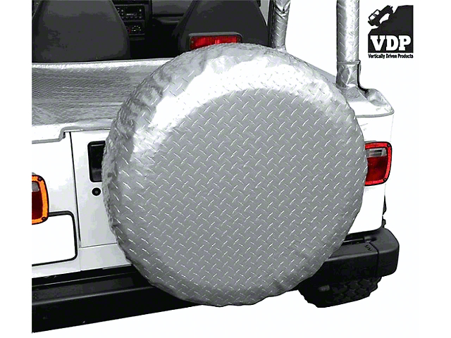 Vertically Driven Spare Tire Cover - Silver (87-19 Jeep Wrangler YJ, TJ, JK & JL)