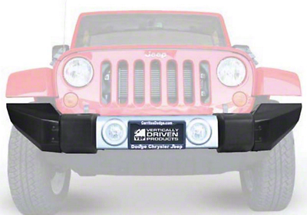 Vertically Driven Full Width Modular Stock Bumper End Caps - Black (07-18 Jeep Wrangler JK)