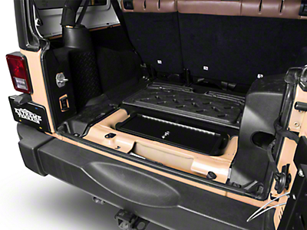 Vertically Driven Locking Hidden Storage Vault (07-18 Jeep Wrangler JK)