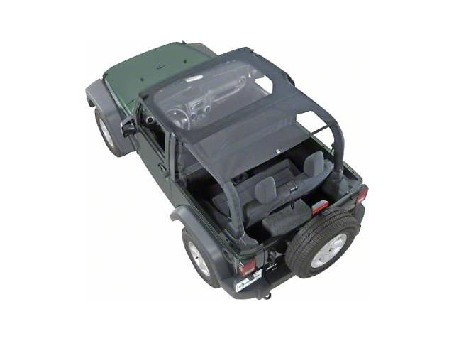 KoolBreez Full-Length Sun Screen Brief Top; Black Mesh (04-06 Jeep Wrangler TJ Unlimited)