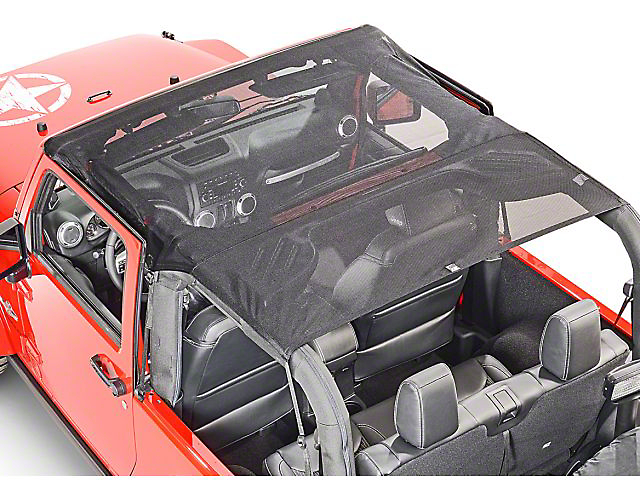 Vertically Driven KoolBreez Full-Length Sun Screen Brief Top - Pirate Flag (07-09 Jeep Wrangler JK 2 Door)