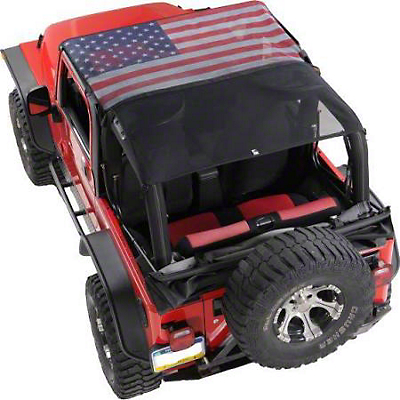 Vertically Driven KoolBreez Full-Length Sun Screen Brief Top - American Flag (92-95 Jeep Wrangler YJ)