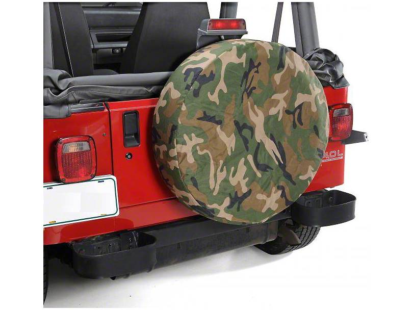 Vertically Driven 27-29 in. Spare Tire Cover - Camouflage (87-20 Jeep Wrangler YJ, TJ, JK & JL)