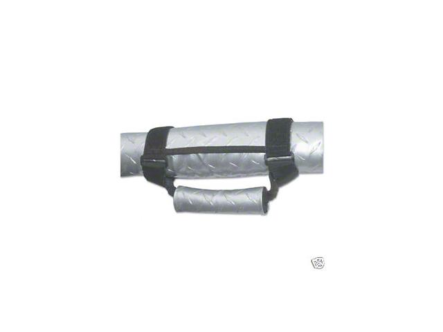 Vertically Driven Deluxe Grab Handles - Diamond Plate Silver (87-18 Jeep Wrangler YJ, TJ, JK & JL)