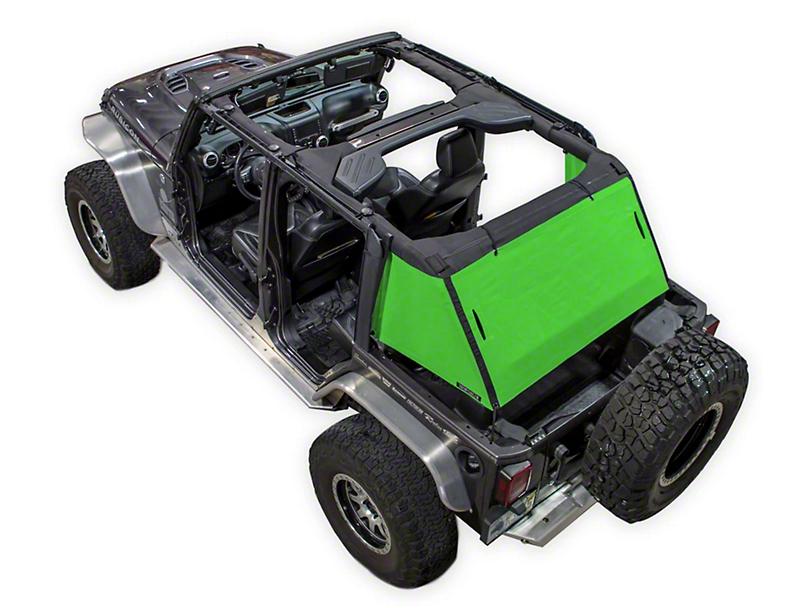 SpiderWeb Shade Trail Mesh Cargo Shade - Green (07-18 Jeep Wrangler JK 4 Door)