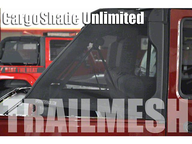 SpiderWeb Shade Trail Mesh Cargo Shade; Gray (07-18 Jeep Wrangler JK 4 Door)