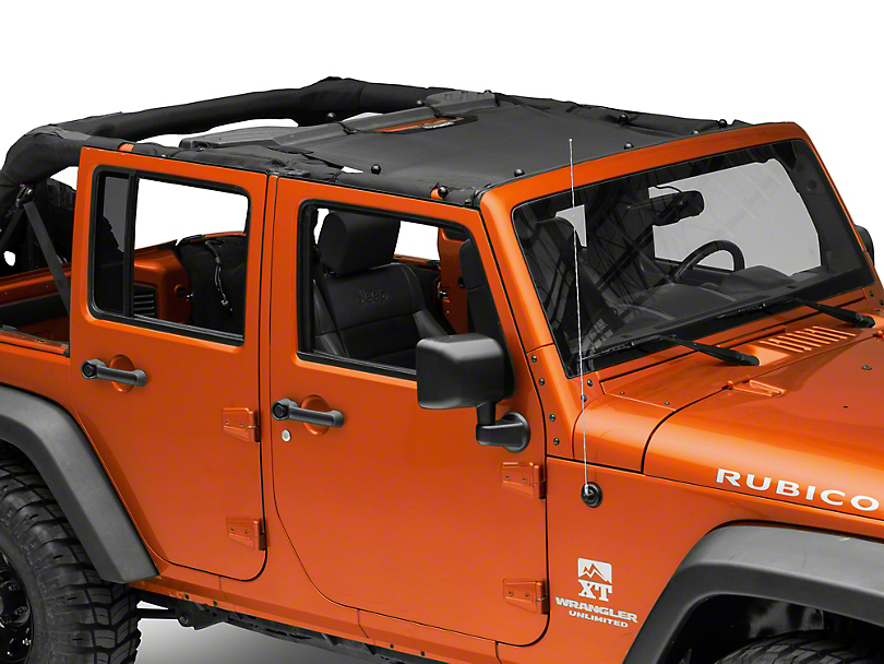 SpiderWeb Shade JKini Trail Mesh Bikini Top - Black (07-18 Jeep Wrangler JK)