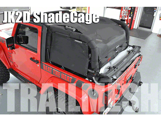 SpiderWeb Shade ShadeCage Trail Mesh Top - Yellow (07-18 Jeep Wrangler JK 2 Door)