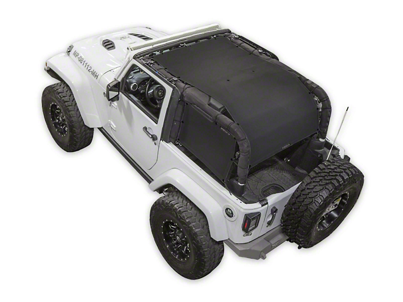SpiderWeb Shade ShadeCage Trail Mesh Top - Black (07-18 Jeep Wrangler JK 2 Door)