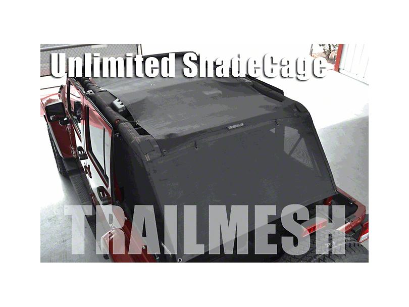SpiderWeb Shade ShadeCage Trail Mesh Top - Black (07-18 Jeep Wrangler JK 4 Door)