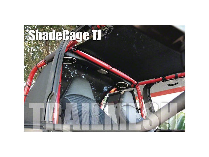 SpiderWeb Shade ShadeCage Trail Mesh Top - Black (97-06 Jeep Wrangler TJ, Excluding Unlimited)