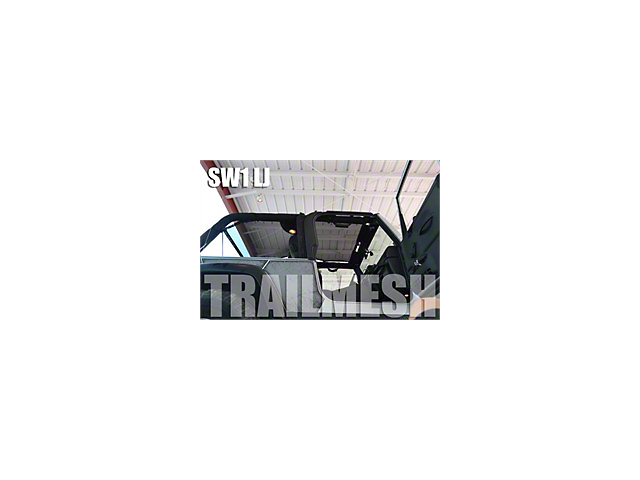SpiderWeb Shade ShadeTop Trail Mesh; Orange (04-06 Jeep Wrangler TJ Unlimited)