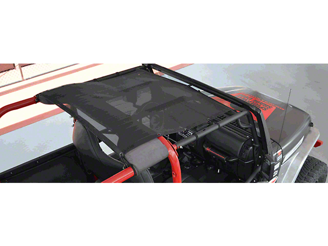 SpiderWeb Shade Krawler Trail Mesh Top - Gray (97-06 Jeep Wrangler TJ)
