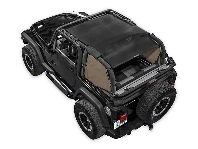 SpiderWeb Shade Trail Mesh SpiderSides - Tan (97-06 Jeep Wrangler TJ)