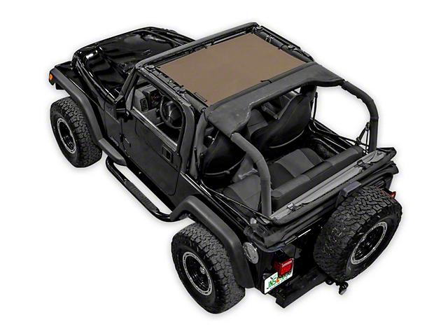SpiderWeb Shade TJini Trail Mesh Bikini Top; Tan (97-06 Jeep Wrangler TJ)