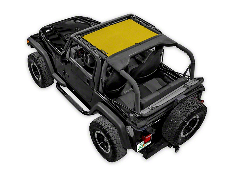 SpiderWeb Shade TJini Trail Mesh Bikini Top - Yellow (97-06 Jeep Wrangler TJ)