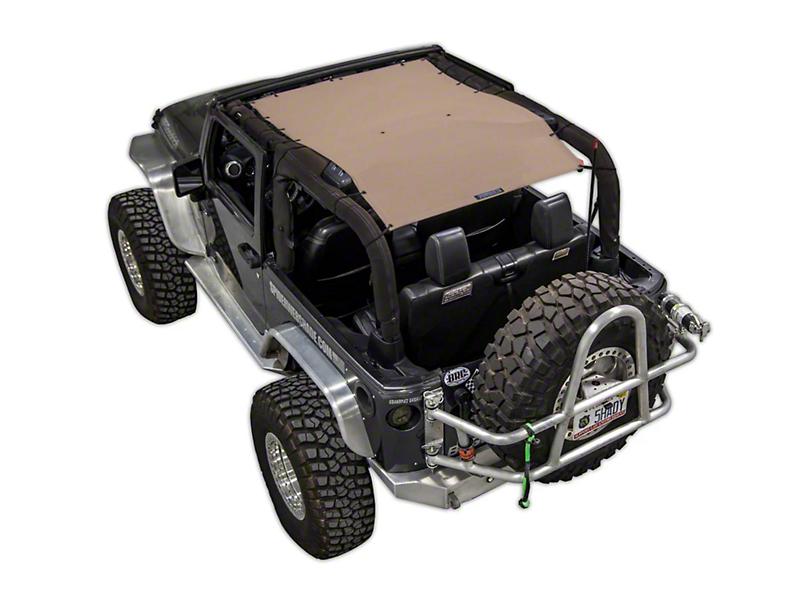 SpiderWeb Shade Trail Mesh ShadeTop - Tan (07-18 Jeep Wrangler JK 2 Door)