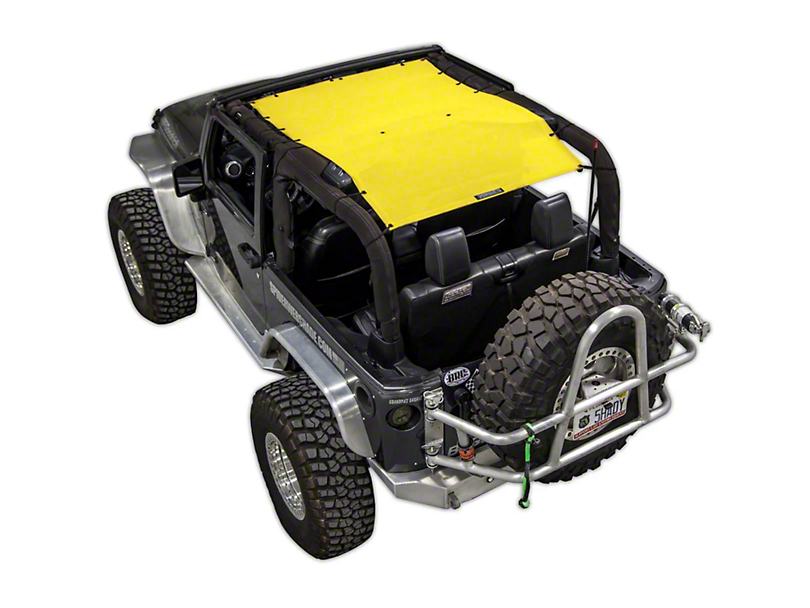 SpiderWeb Shade Trail Mesh ShadeTop - Yellow (07-18 Jeep Wrangler JK 2 Door)