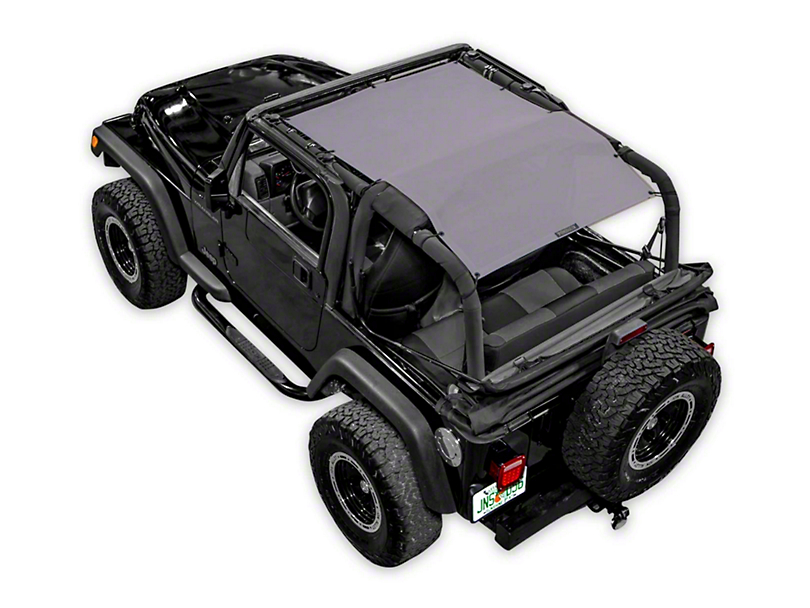SpiderWeb Shade Trail Mesh ShadeTop - Gray (87-06 Jeep Wrangler YJ & TJ, Excluding Unlimited)