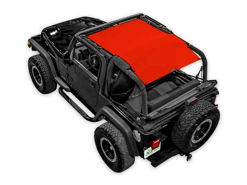 SpiderWeb Shade Trail Mesh ShadeTop - Red (87-06 Jeep Wrangler YJ & TJ, Excluding Unlimited)