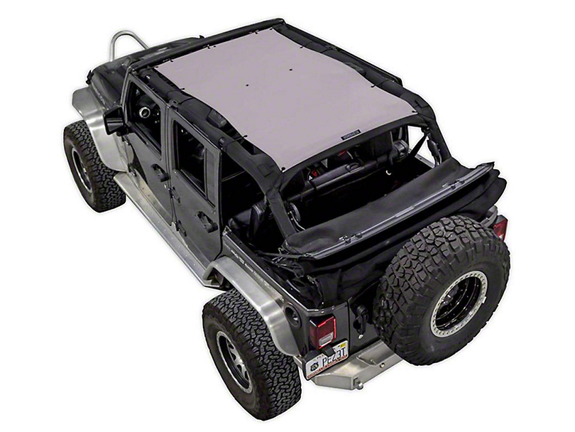 SpiderWeb Shade Trail Mesh ShadeTop - Gray (07-18 Jeep Wrangler JK 4 Door)