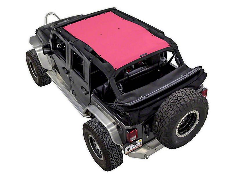 SpiderWeb Shade Trail Mesh ShadeTop - Pink (07-18 Jeep Wrangler JK 4 Door)