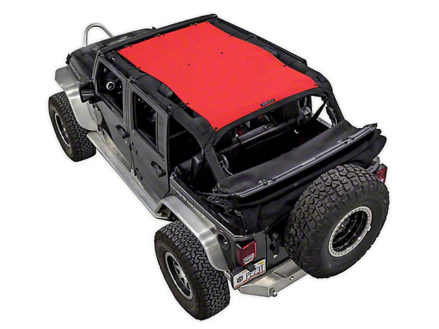 SpiderWeb Shade Trail Mesh ShadeTop - Red (07-18 Jeep Wrangler JK 4 Door)
