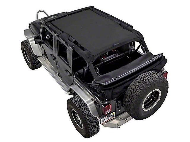 SpiderWeb Shade Trail Mesh ShadeTop; Black (07-18 Jeep Wrangler JK 4 Door)