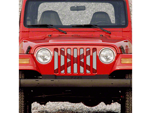 Dirty Acres Grille Insert - Alabama State Flag (97-06 Jeep Wrangler TJ)