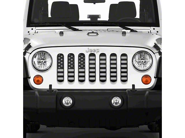Grille Insert; American Black and White (07-18 Jeep Wrangler JK)
