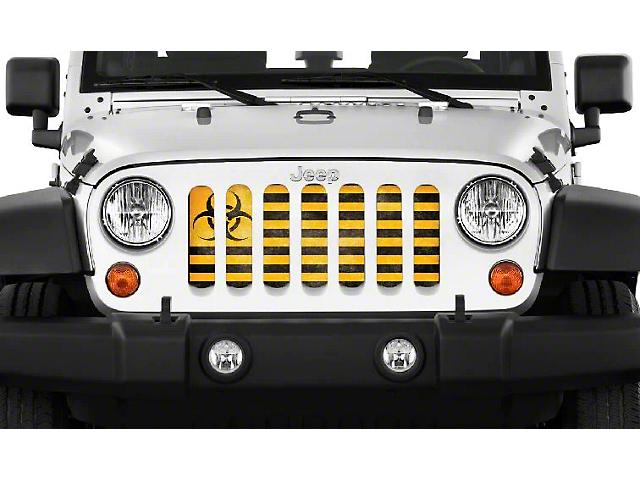 Dirty Acres Grille Insert - BioHazard (07-18 Jeep Wrangler JK)
