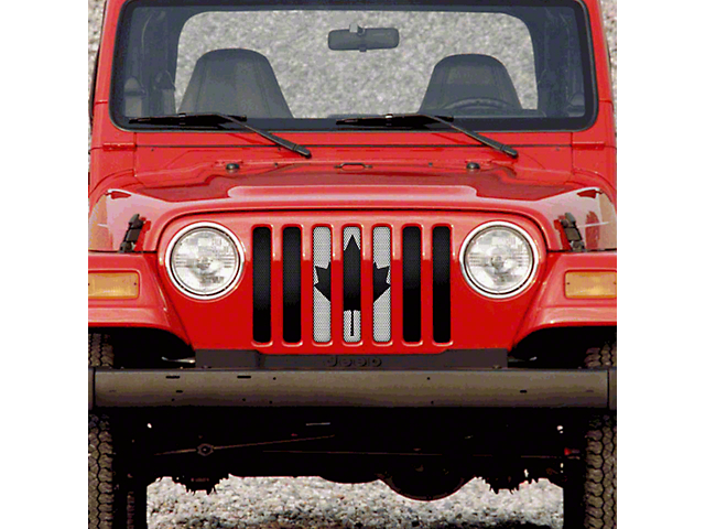 Dirty Acres Grille Insert - Canadian Black & White (97-06 Jeep Wrangler TJ)