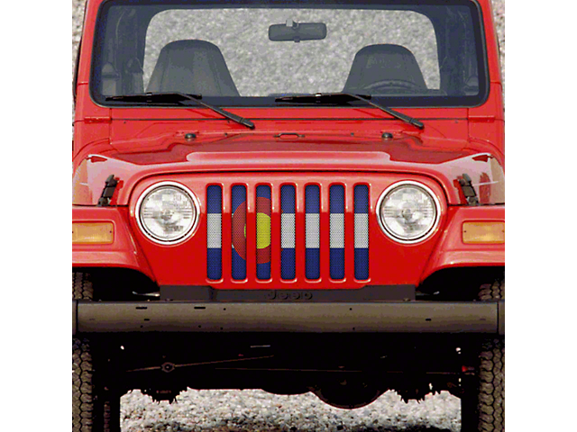 Grille Insert; Colorado State Flag (97-06 Jeep Wrangler TJ)
