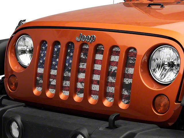Grille Insert; Dirty Grace (07-18 Jeep Wrangler JK)