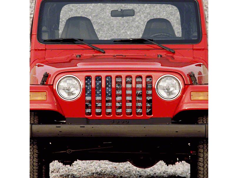 Grille Insert; Dirty Grace (97-06 Jeep Wrangler TJ)