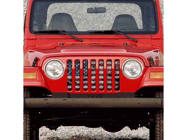 Dirty Acres Grille Insert - Dirty Grace (97-06 Jeep Wrangler TJ)